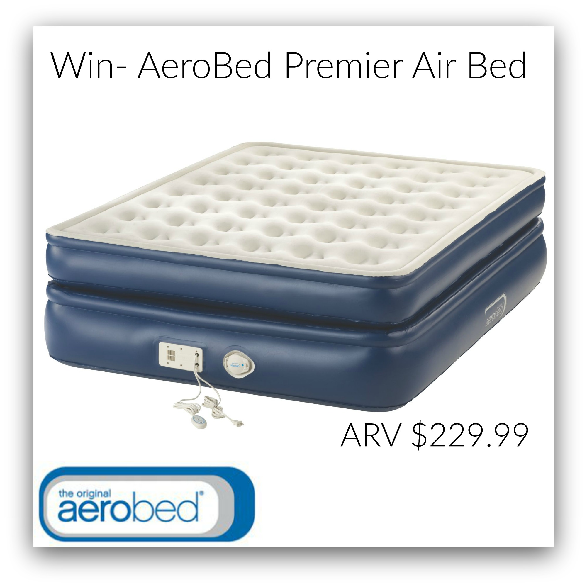 aerobed premier air bed comfortable extra sleeping space in