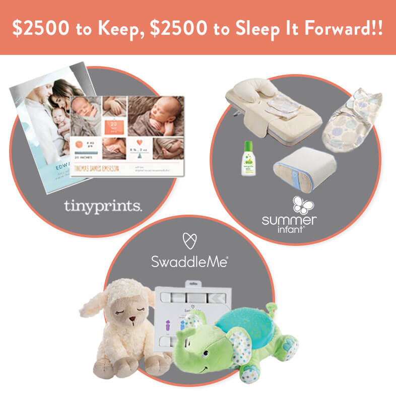 SwaddleMe & Tiny Prints Sleep It Forward Sweepstakes and a Born 2 Impress Swaddle Giveaway!