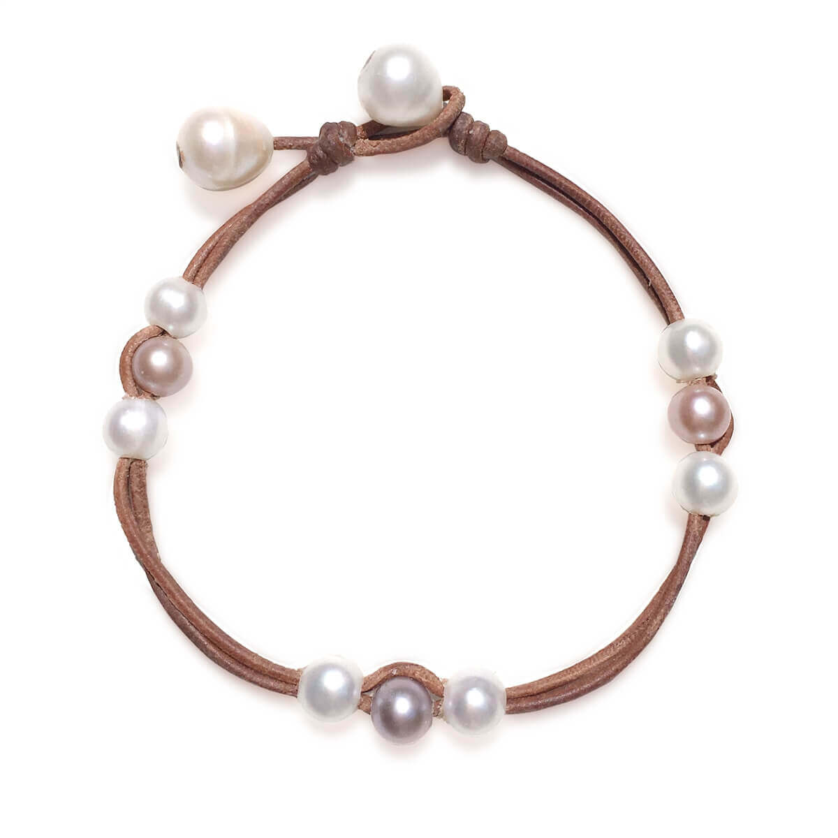 Astonishing Leather and Pearls Anklets by Wendy Mignot to Give the Finishing Touch to Your Outfits