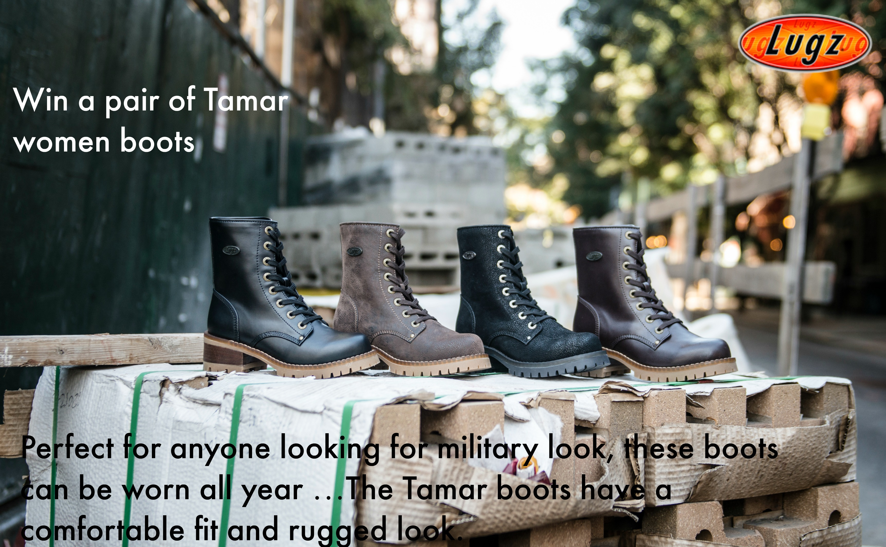 The Lugz Tamar Combat-inspired Boots are Great to Wear All Year Around!