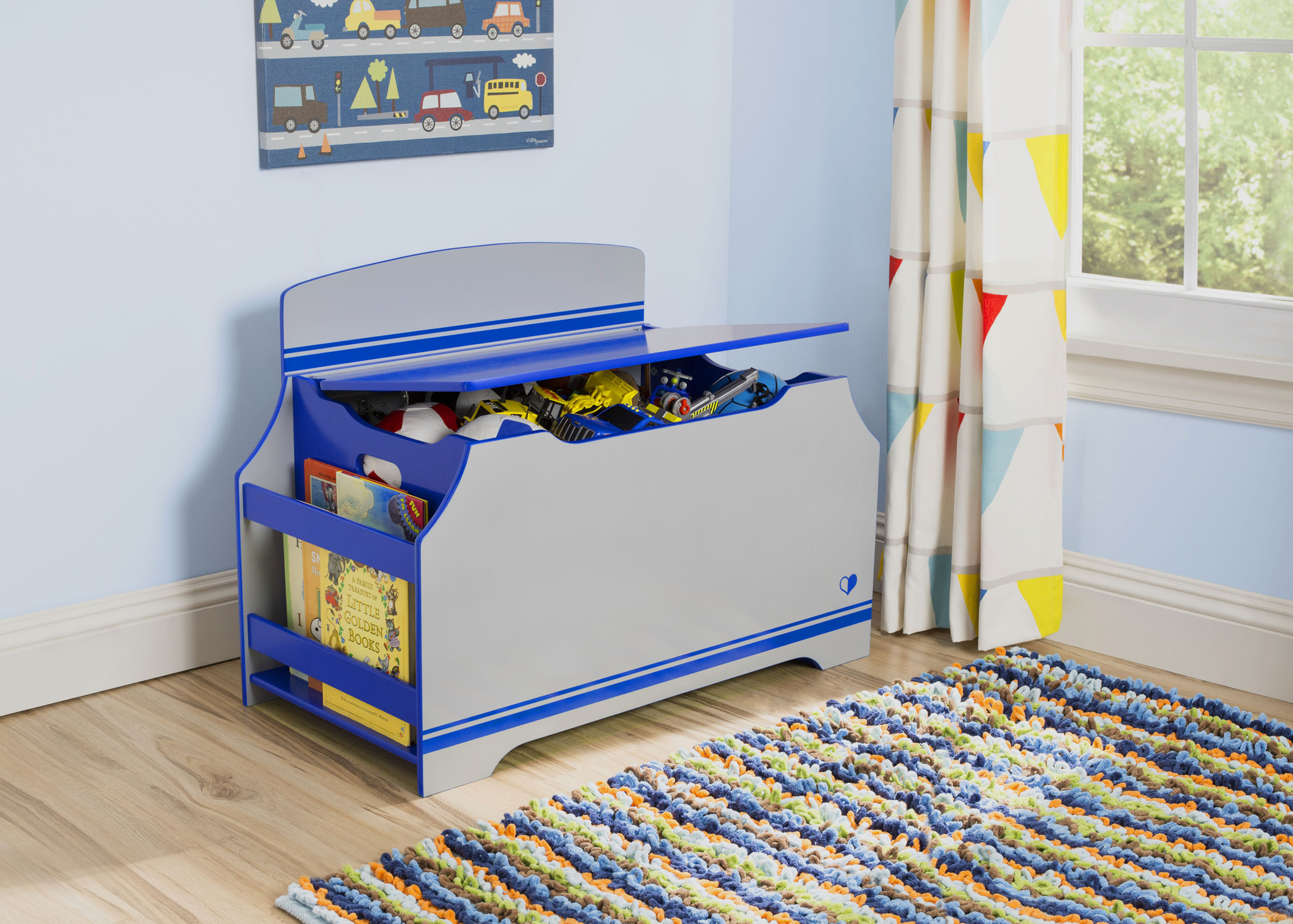 Jack and Jill Deluxe Toy Box with Book Rack is what you Need to Keep Toys Organized this Holiday Season!