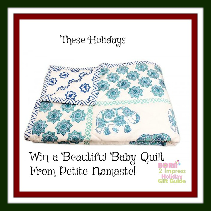 The Blue Caravan Reversible Quilt from Petite Namaste  is a Must Have This Holiday Season
