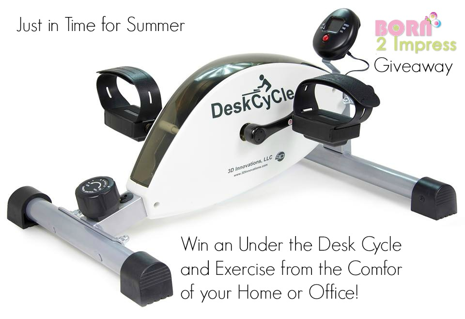 No Excuses -You can Workout at Home or Work with the DeskCycle!