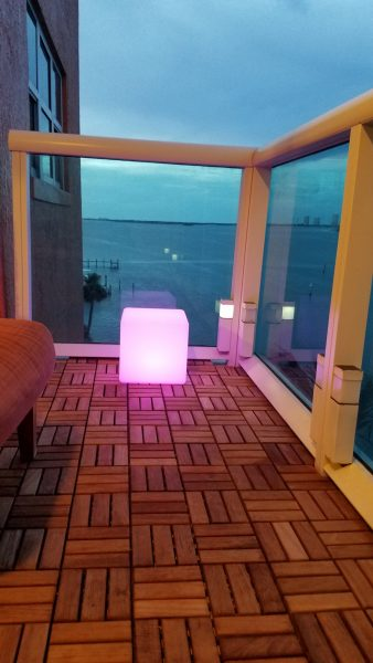 "12""LOFTEK LED Cube Rechargeable and Cordless Decorative Light with 16 RGB Colors and Remote Control, -Pink Glow"